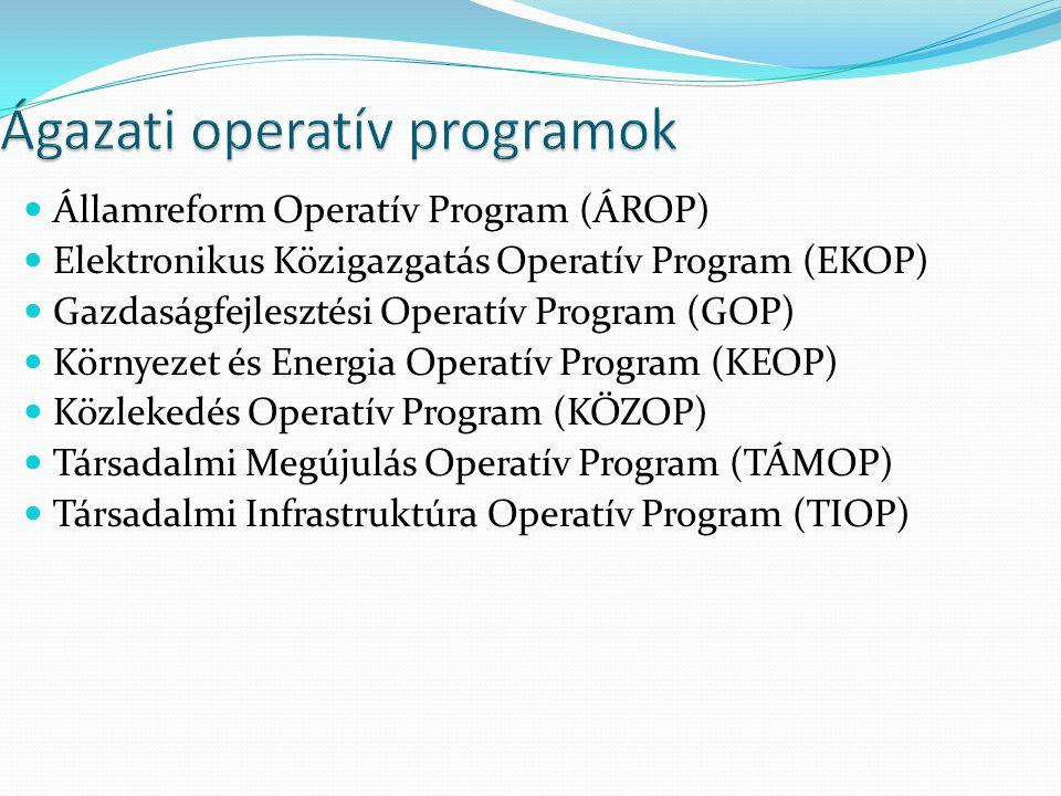 Ágazati operatív programok