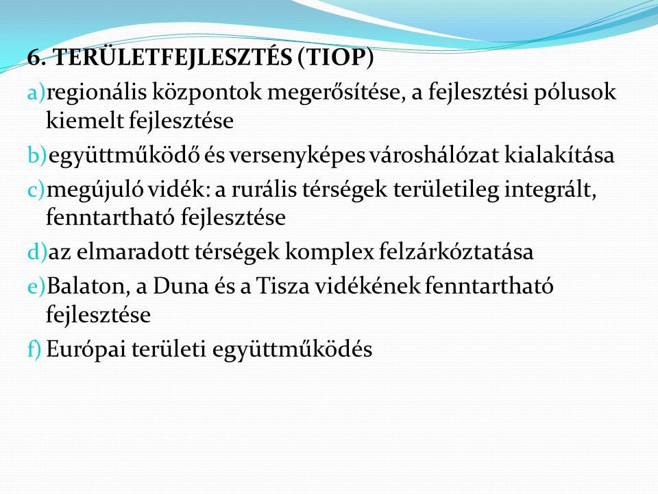 6. TERÜLETFEJLESZTÉS (TIOP)