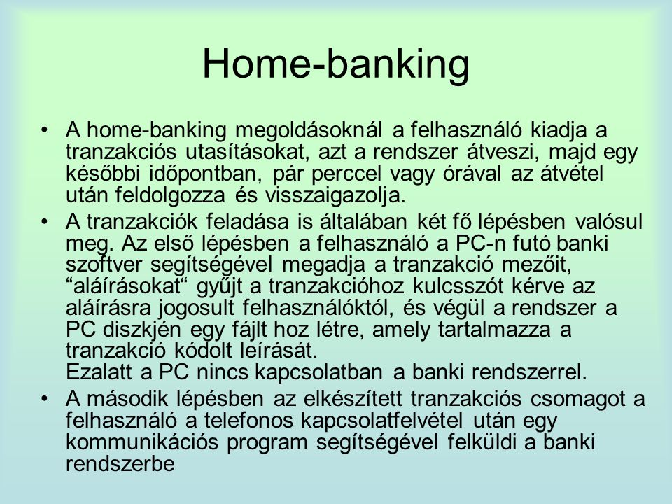 Home-banking