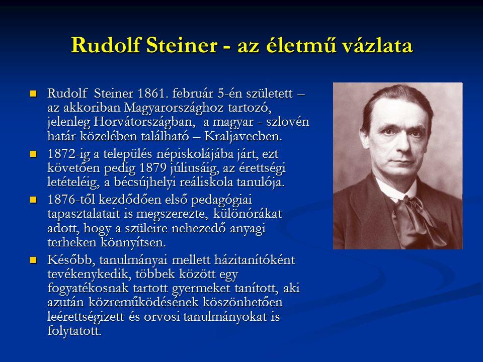 Rudolf Steiner - az életmű vázlata