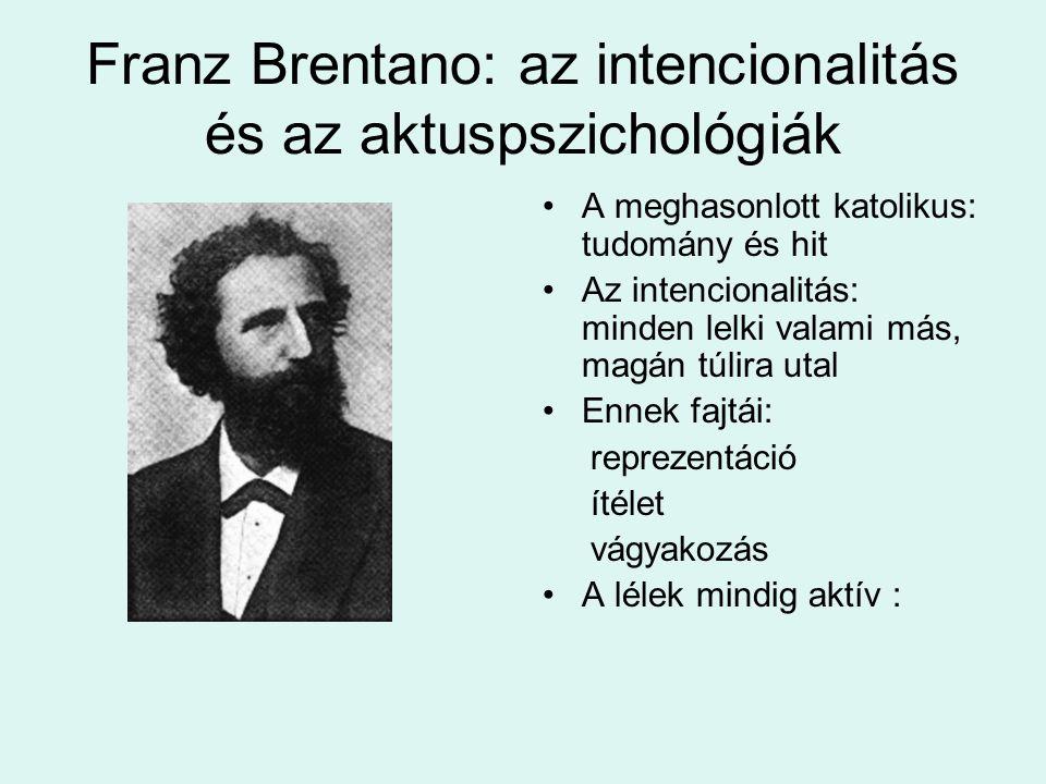Franz Brentano: az intencionalitás és az aktuspszichológiák