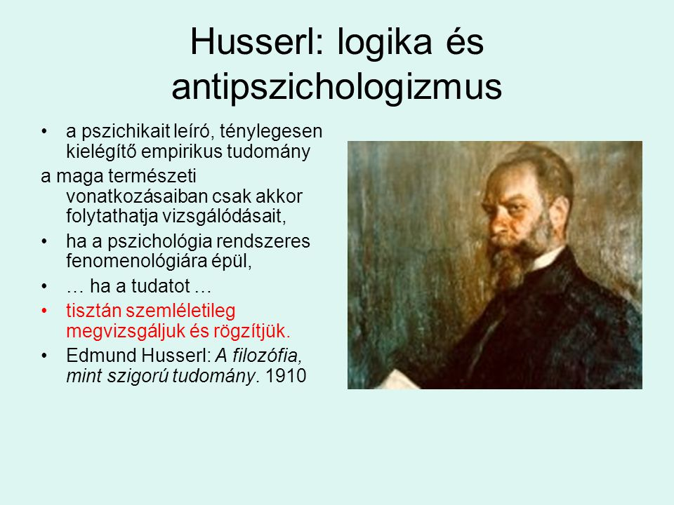 Husserl: logika és antipszichologizmus