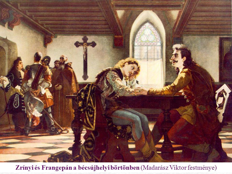 Zrínyi és Frangepán a bécsújhelyi börtönben (Madarász Viktor festménye)