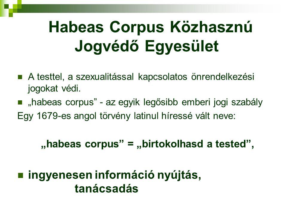 Habeas Corpus Közhasznú Jogvédő Egyesület