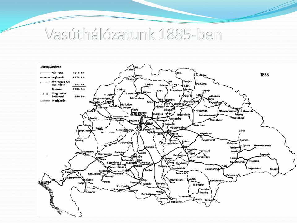 Vasúthálózatunk 1885-ben