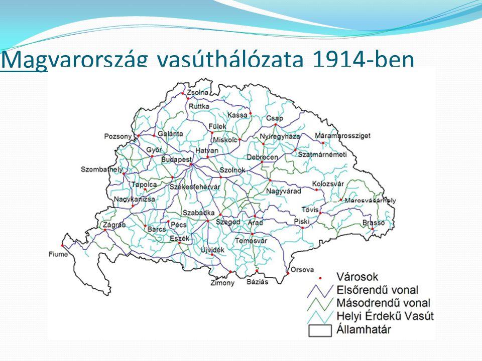Magyarország vasúthálózata 1914-ben