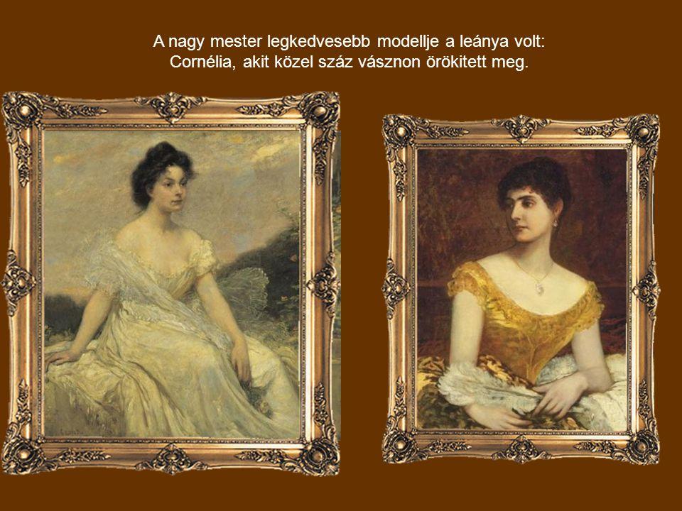 A nagy mester legkedvesebb modellje a leánya volt: Cornélia, akit közel száz vásznon örökitett meg.