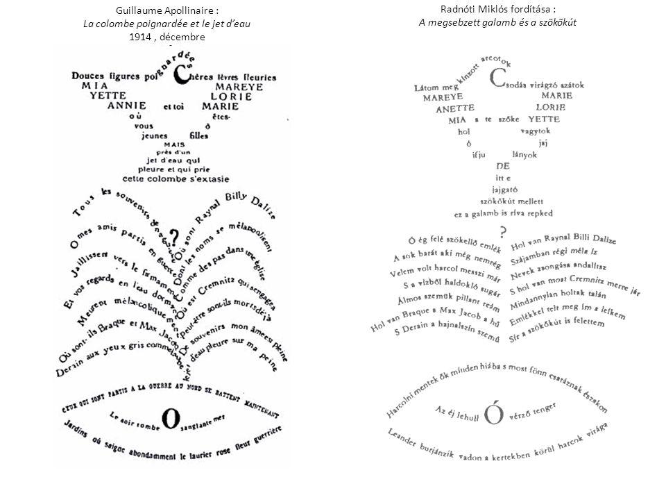 Guillaume Apollinaire : La colombe poignardée et le jet d'eau