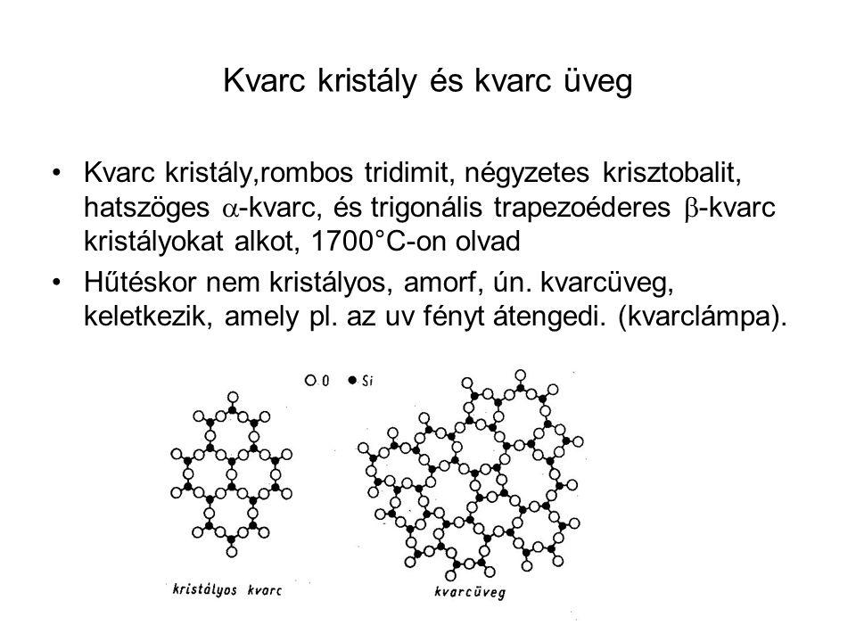Kvarc kristály és kvarc üveg