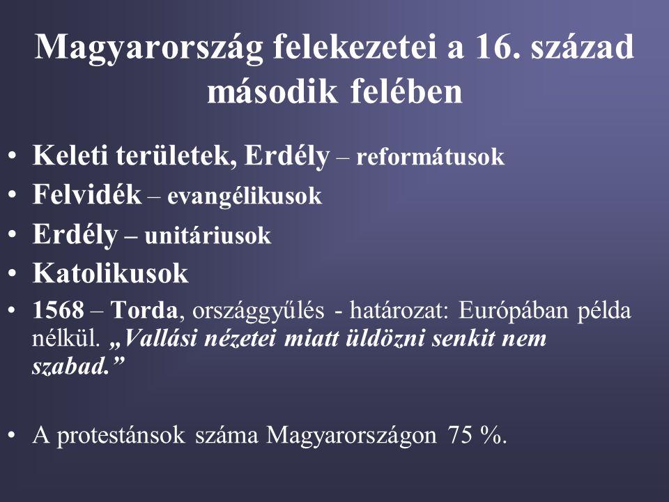 Magyarország felekezetei a 16. század második felében