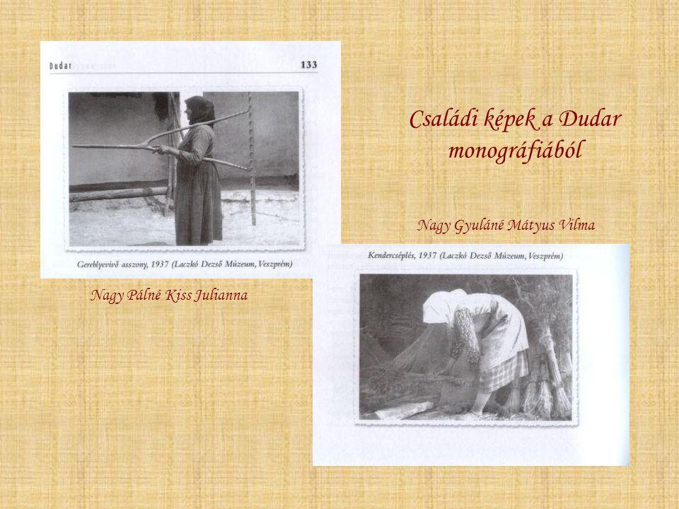 Családi képek a Dudar monográfiából