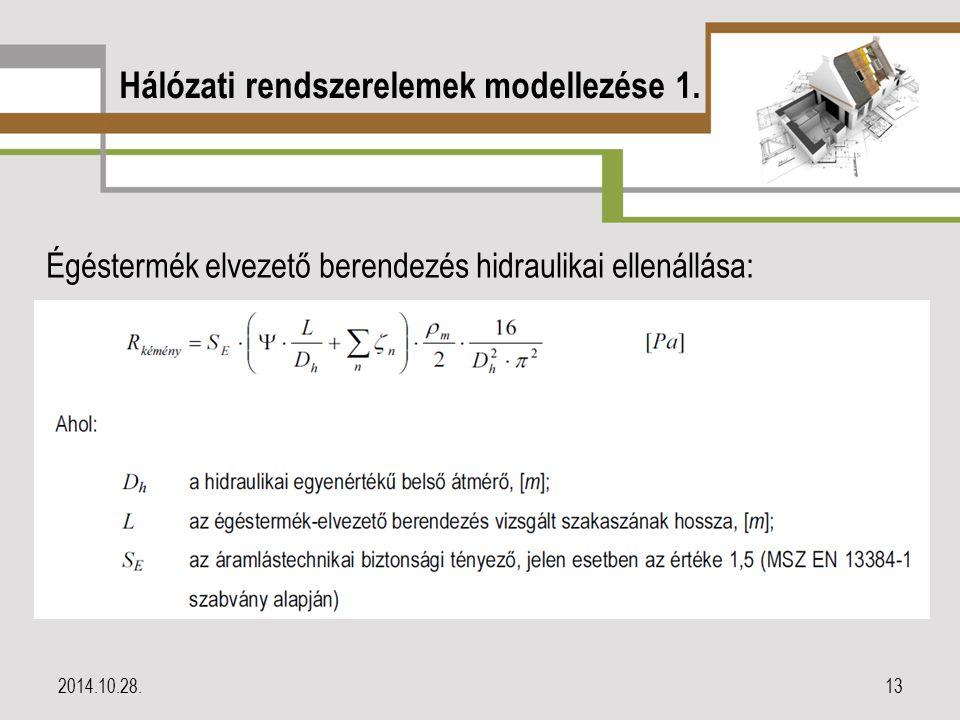 Hálózati rendszerelemek modellezése 1.
