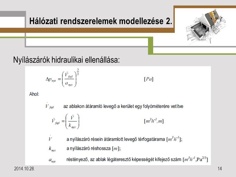 Hálózati rendszerelemek modellezése 2.