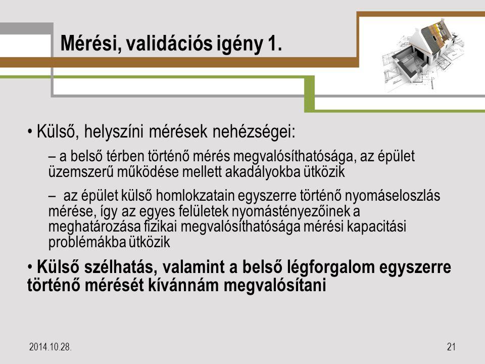 Mérési, validációs igény 1.