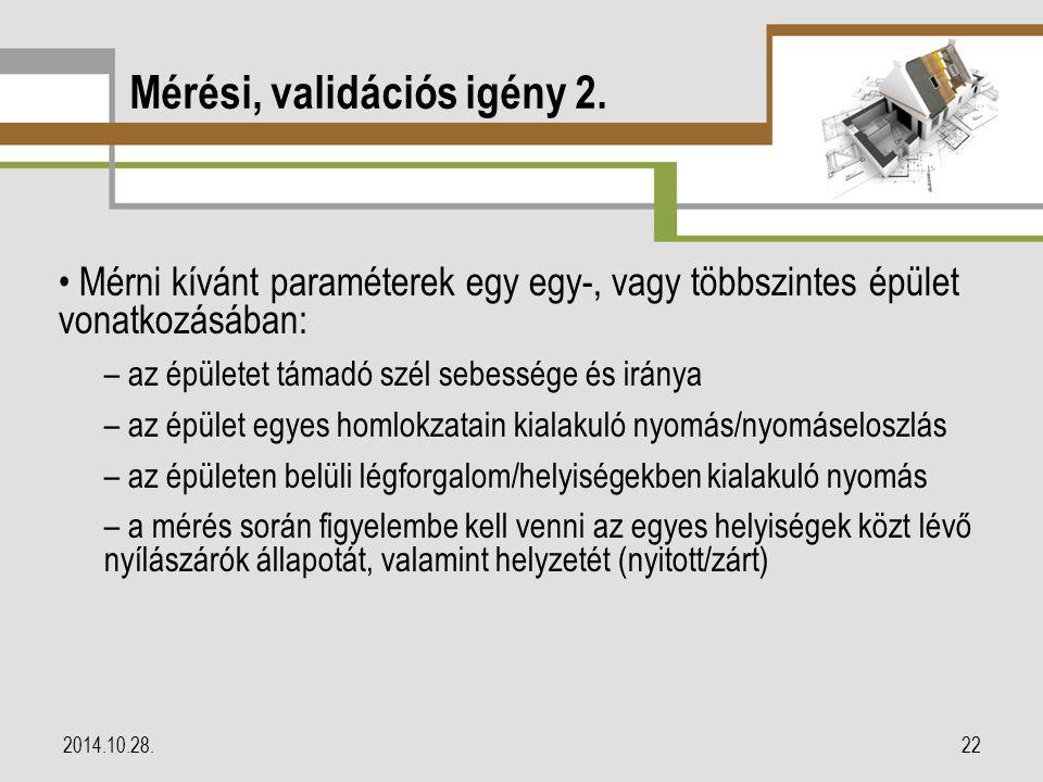 Mérési, validációs igény 2.