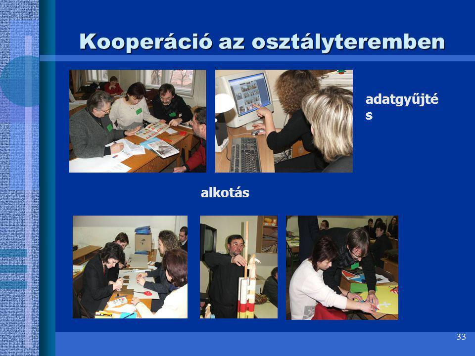 Kooperáció az osztályteremben