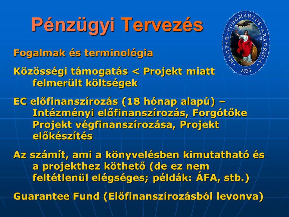 Pénzügyi Tervezés Fogalmak és terminológia
