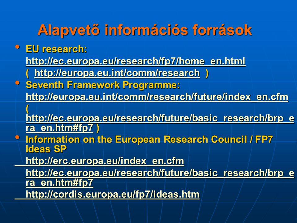 Alapvető információs források