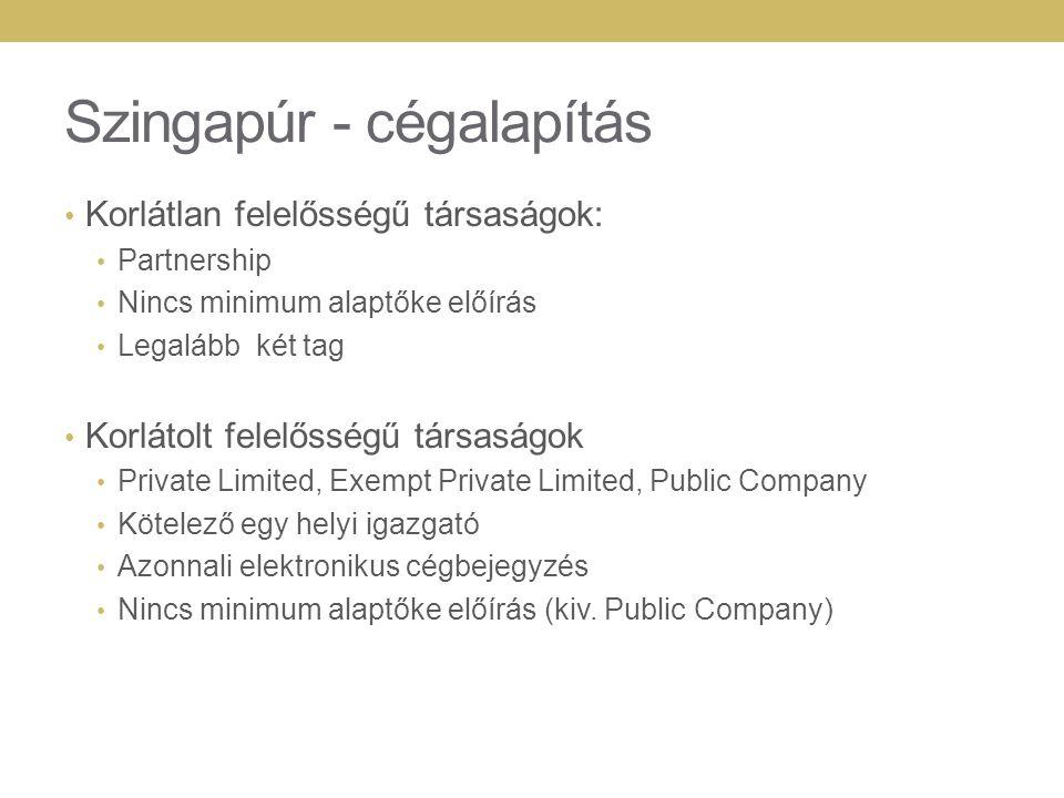 Szingapúr - cégalapítás