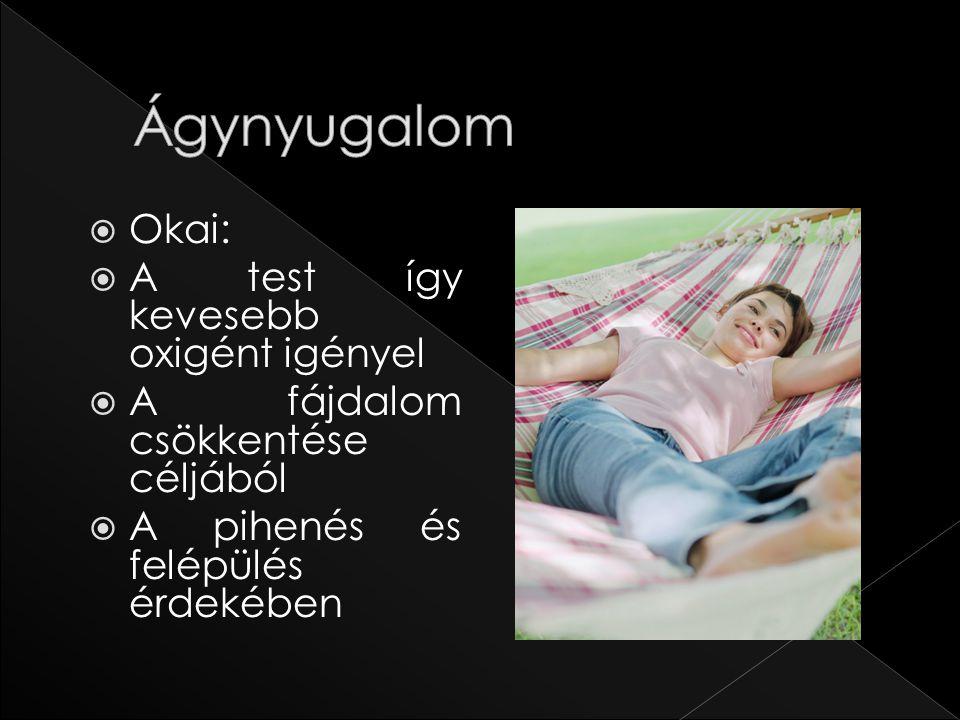 Ágynyugalom Okai: A test így kevesebb oxigént igényel