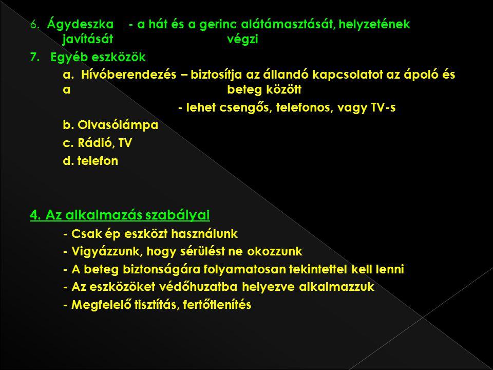 4. Az alkalmazás szabályai