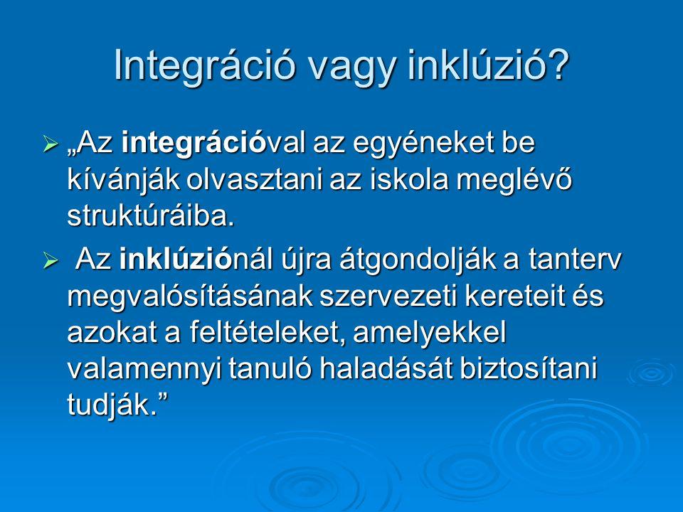 Integráció vagy inklúzió