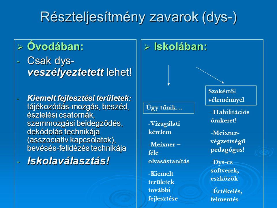 Részteljesítmény zavarok (dys-)