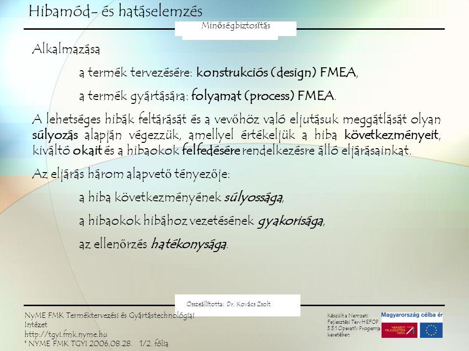 Hibamód- és hatáselemzés FMEA