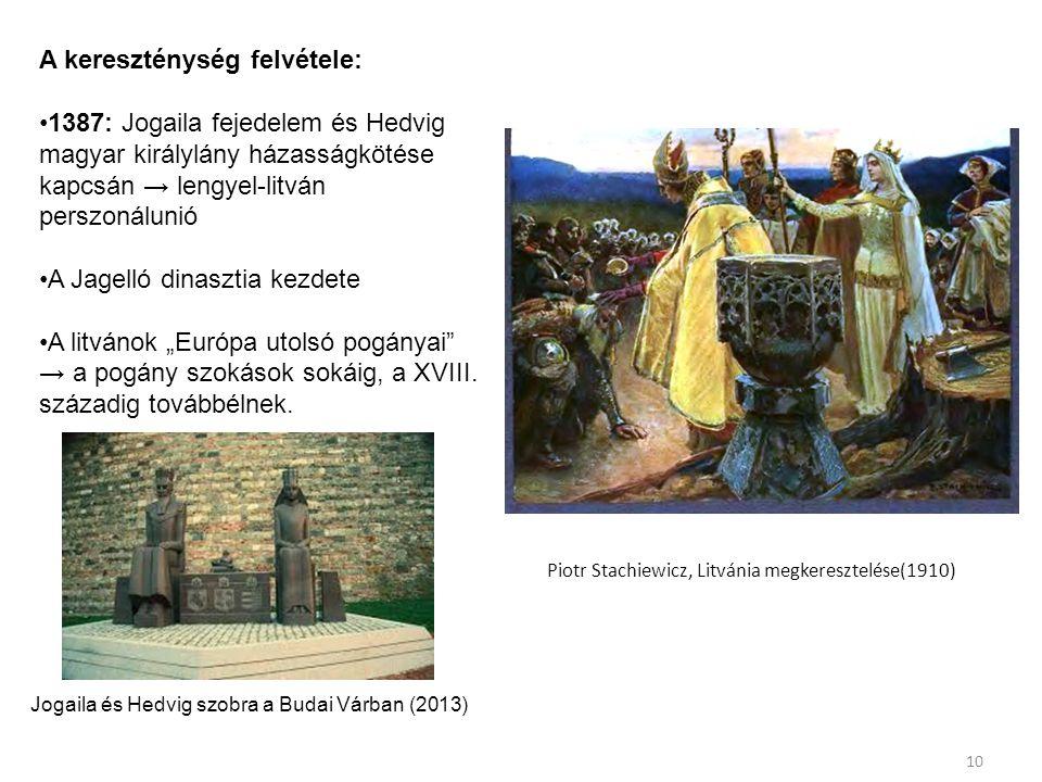 Piotr Stachiewicz, Litvánia megkeresztelése(1910)