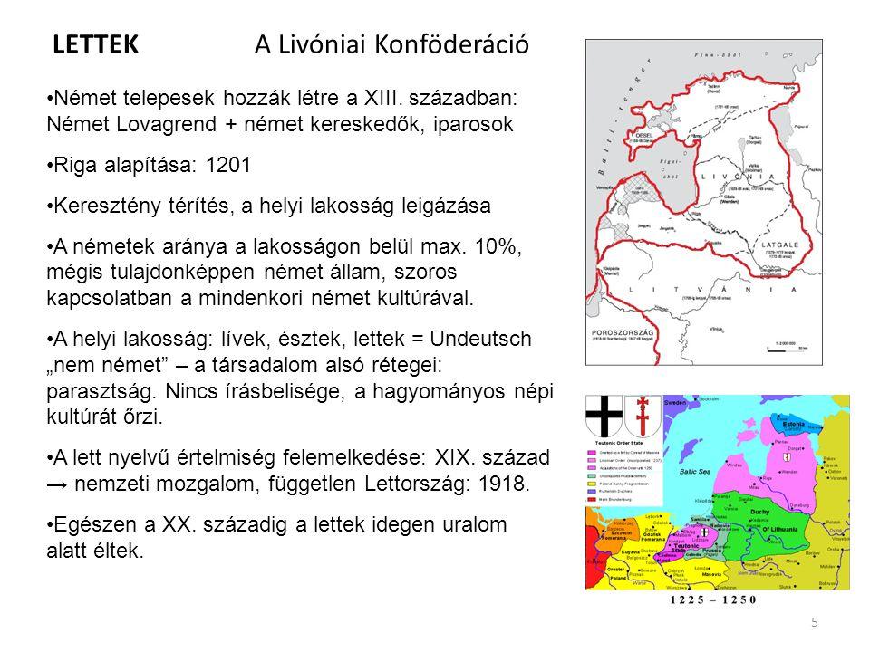 LETTEK A Livóniai Konföderáció