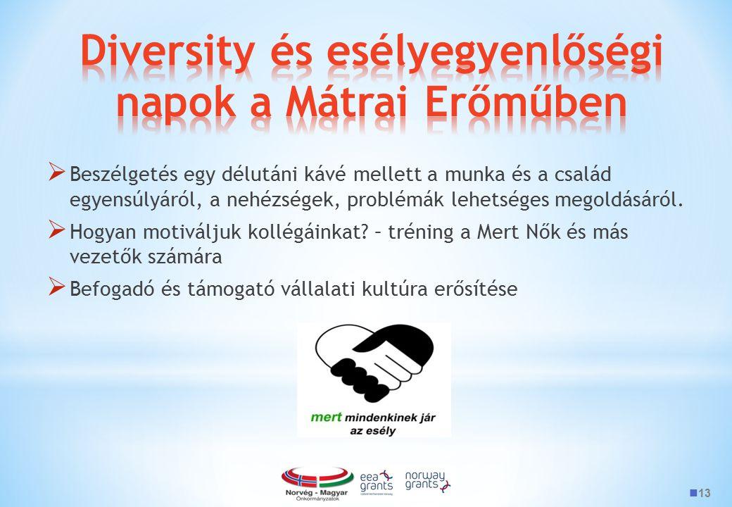 Diversity és esélyegyenlőségi napok a Mátrai Erőműben