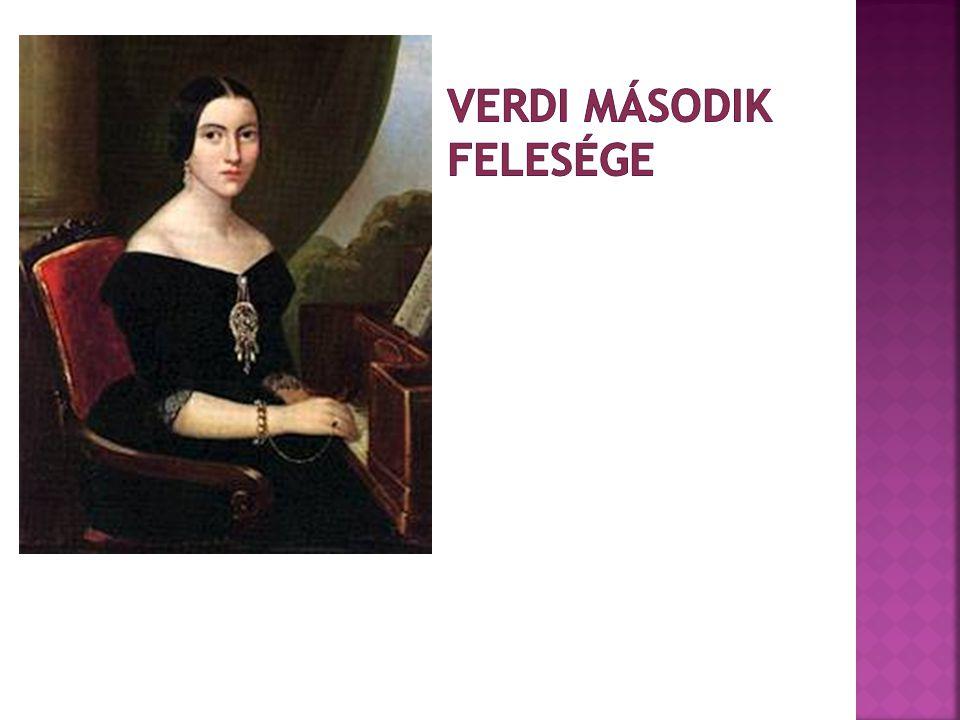 Verdi második felesége