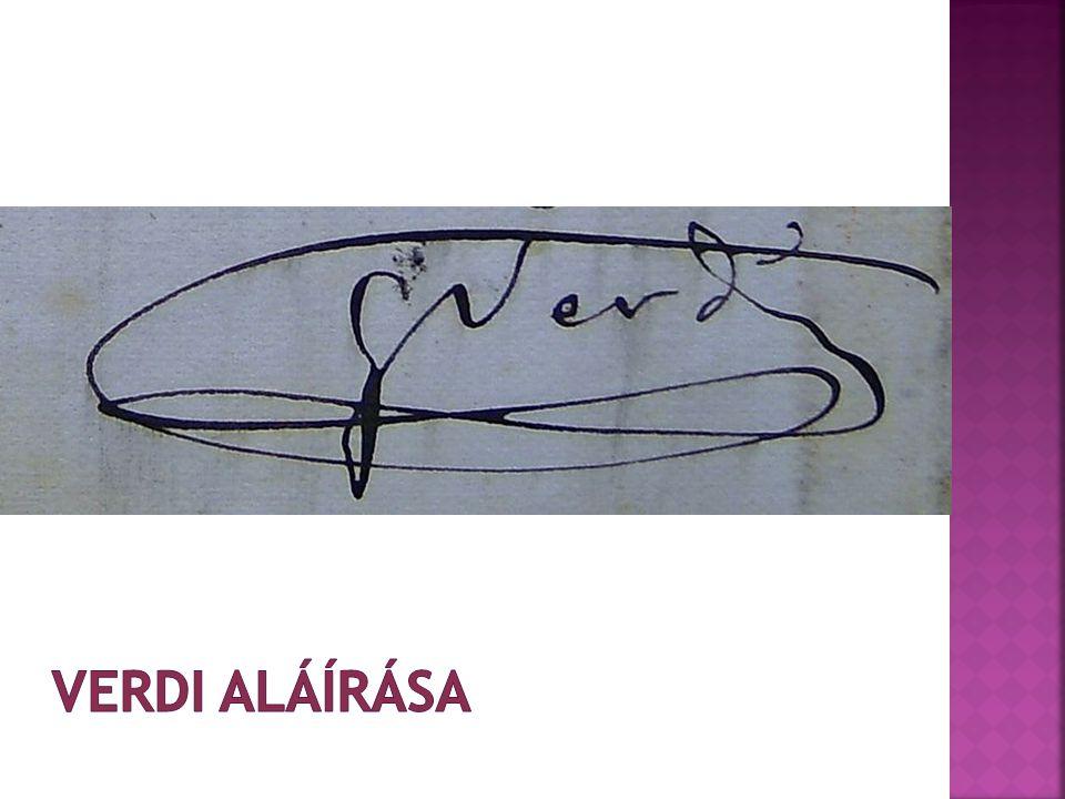 Verdi aláírása