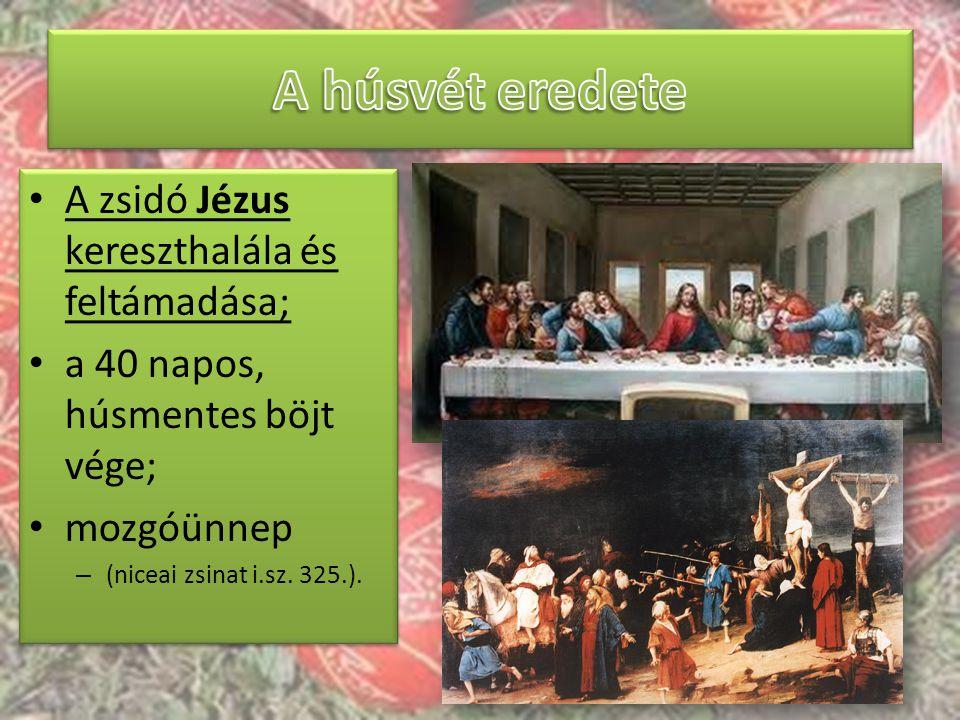 A húsvét eredete A zsidó Jézus kereszthalála és feltámadása;