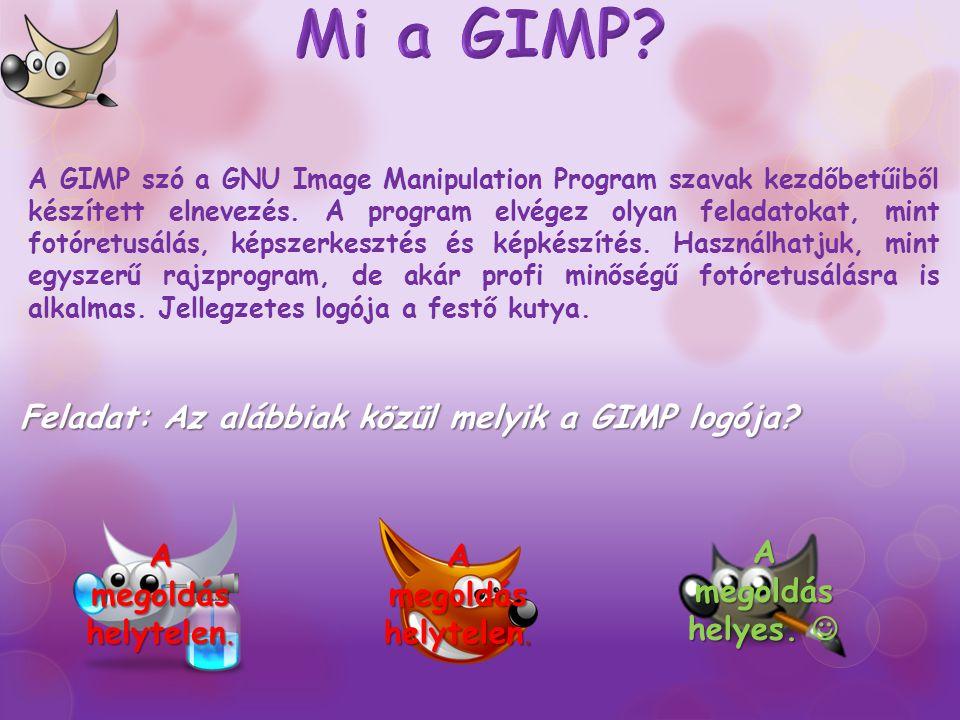 Mi a GIMP Feladat: Az alábbiak közül melyik a GIMP logója