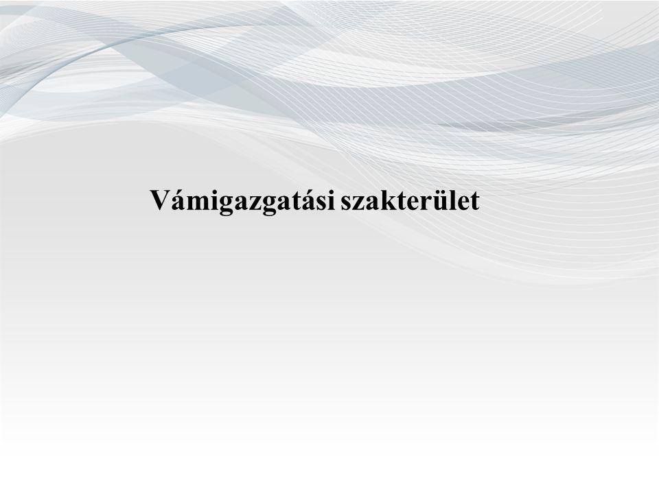 Vámigazgatási szakterület