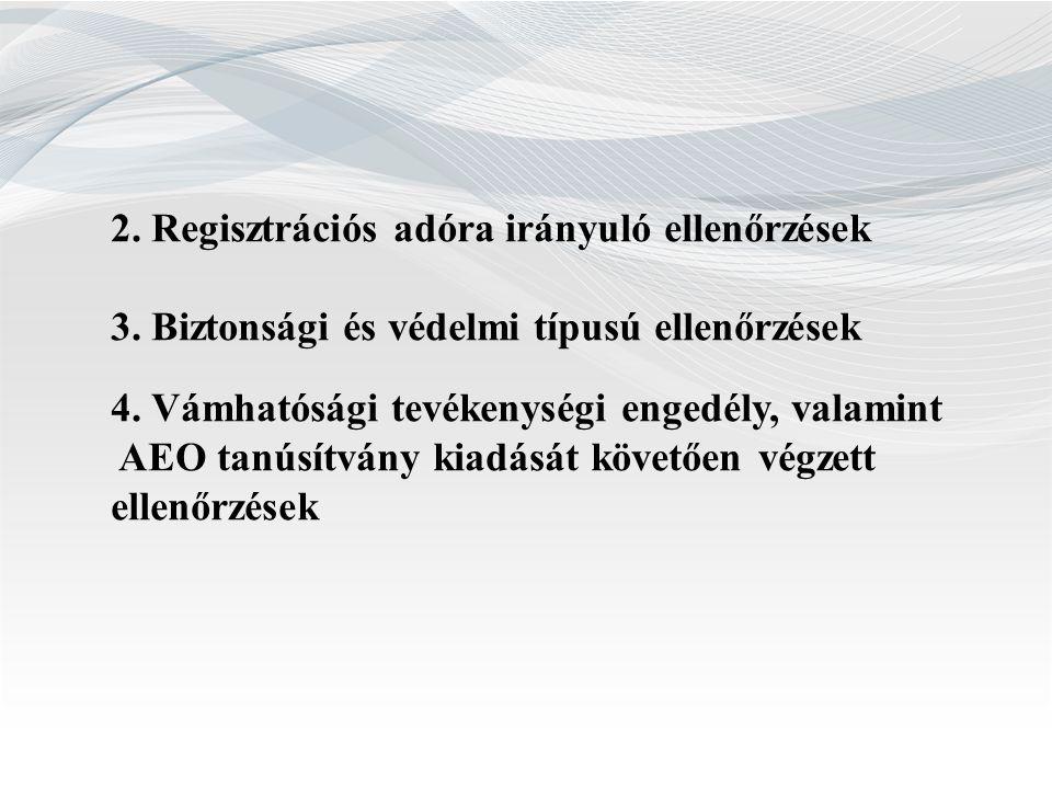 2. Regisztrációs adóra irányuló ellenőrzések