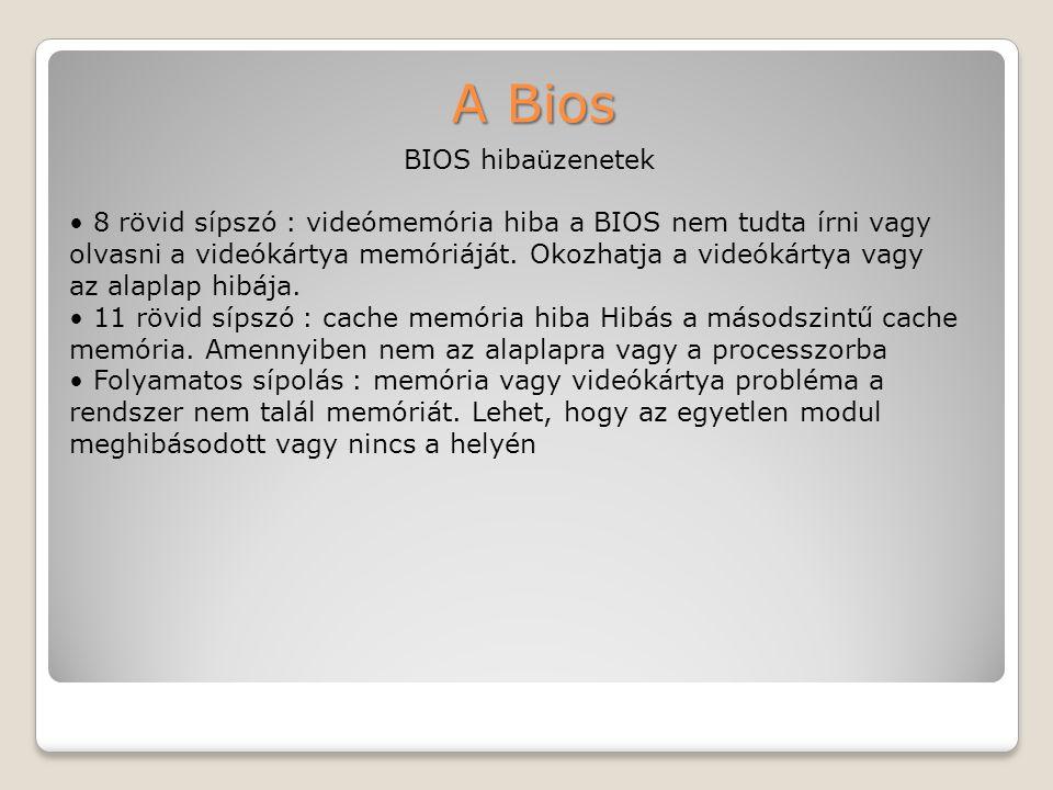 A Bios BIOS hibaüzenetek