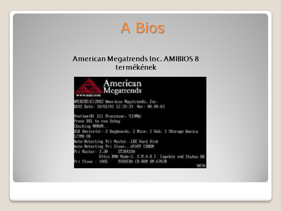 American Megatrends Inc. AMIBIOS 8 termékének