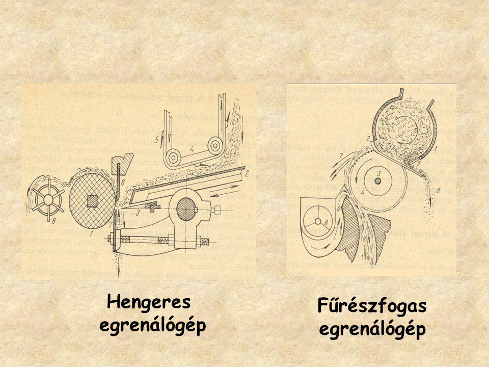 Fűrészfogas egrenálógép