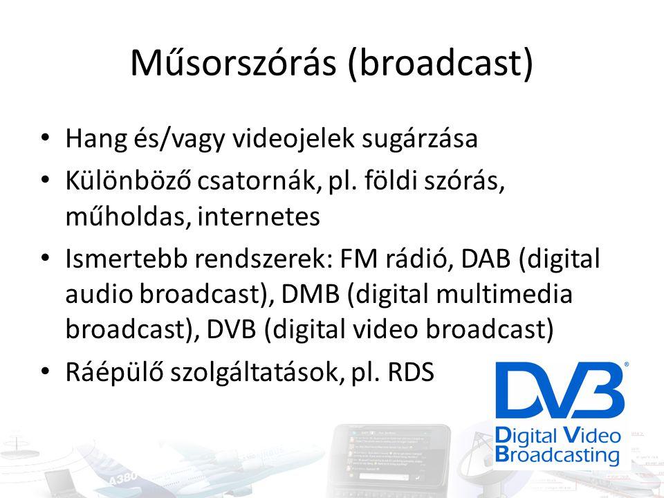 Műsorszórás (broadcast)
