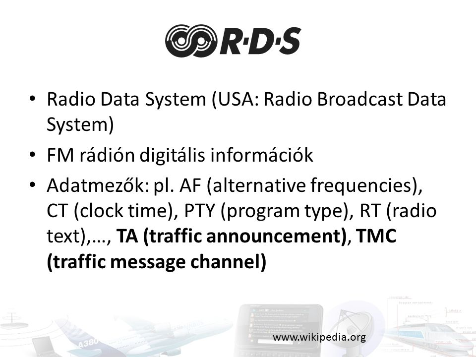 Radio Data System (USA: Radio Broadcast Data System)
