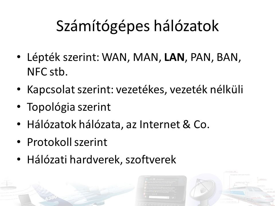 Számítógépes hálózatok