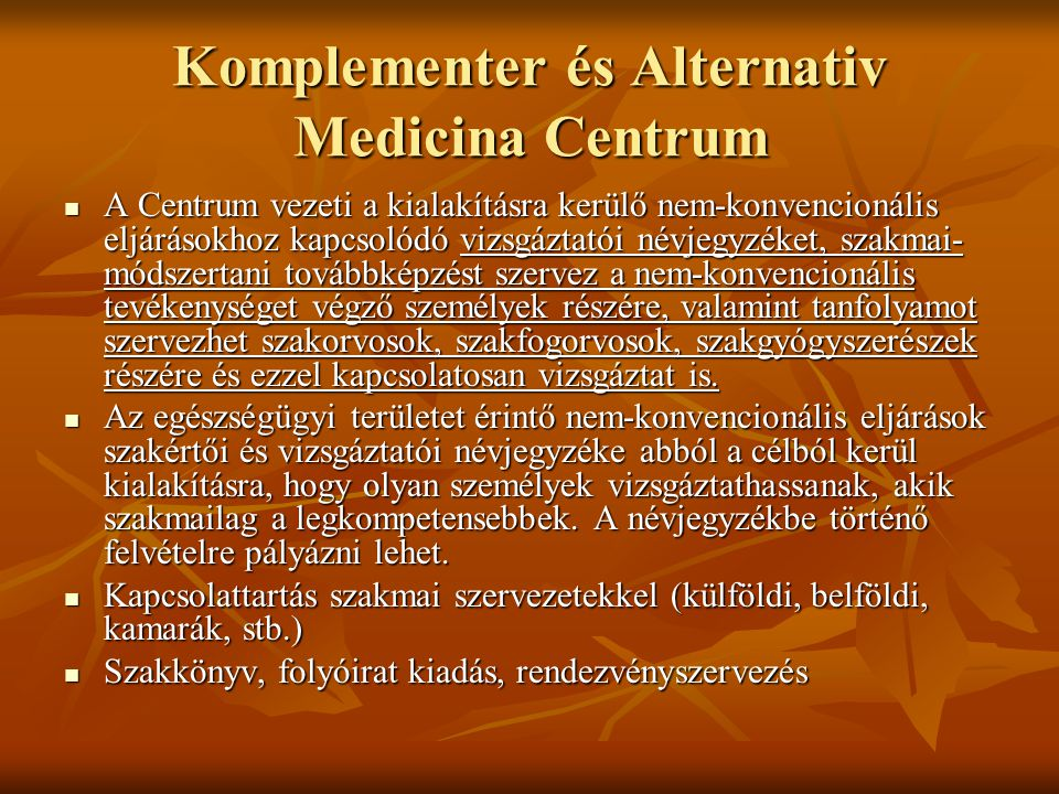 Komplementer és Alternativ Medicina Centrum