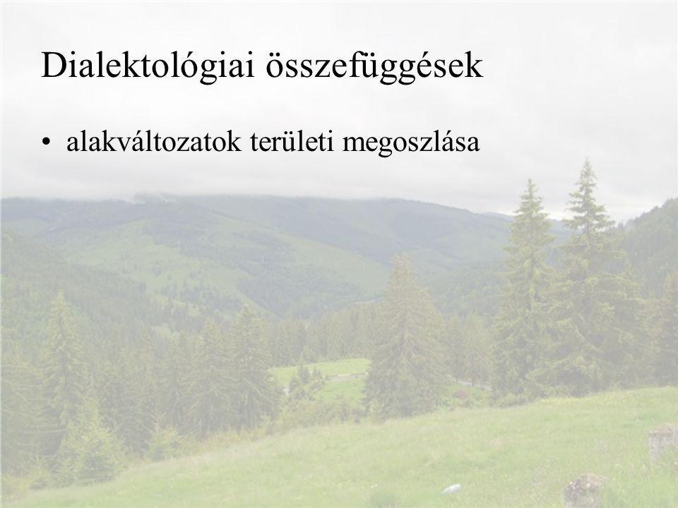 Dialektológiai összefüggések