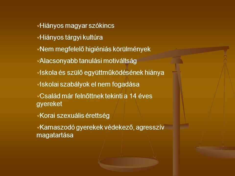 Hiányos magyar szókincs Hiányos tárgyi kultúra
