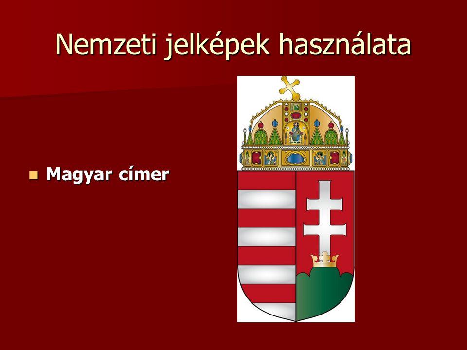 Nemzeti jelképek használata