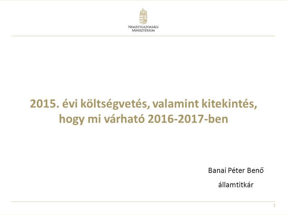 2015. évi költségvetés, valamint kitekintés, hogy mi várható 2016-2017-ben