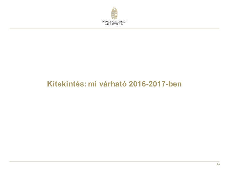 Kitekintés: mi várható 2016-2017-ben