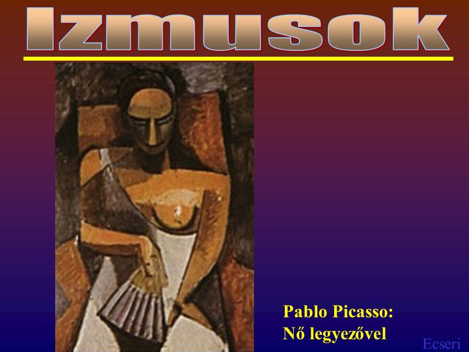 Izmusok Pablo Picasso: Nő legyezővel